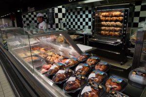Supermarché concept rotisserie